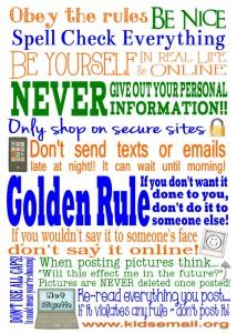 Free Net Etiquette Printable