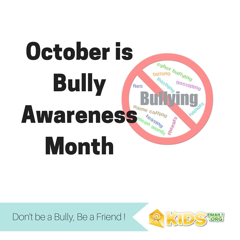 October isBully AwarenessMonth