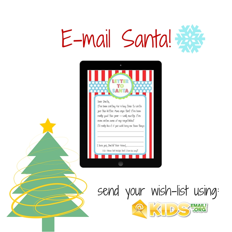 Use Kids Email to Email Santa Kids Email Blog – Santa Wish List for Kids